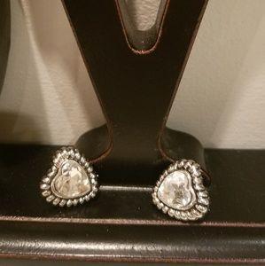 Montana Silversmiths Heart earrings.